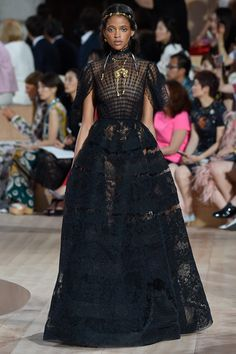 Valentino Fall 2015 Couture Fashion Show - Aya Jones