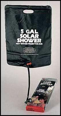 Solar Camping Shower - 5 Gallon Survival Gearsolar camping shower - 5 gallon includes on/off control, hose and shower head. - See more at: http://www.armynavyshop.com/prods/rc540.html