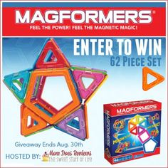 Welcome to the magical giveaway sponsored by Magformers and hosted by Mom Does Reviews! Magformers are a fun and educational toy that children of all ages will love to play with. Every child in my home loves our Magformers and we are even...