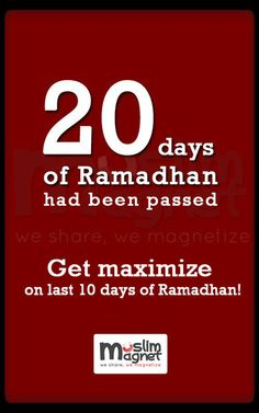20 days of Ramadhan had been passed Ramadan Day, Islam Ramadan, Ramadan Mubarak, Islamic Quotes, Quran, Thoughts, 10 Days, Qoutes, Photoshoot