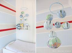 #DIY Atlas Mobile for an Around The World theme nursery #baby