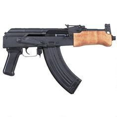 Shop Century Arms Mini Draco Pistol Semi Automatic Handgun Barrel Black 30 Rounds Wood Fore Grip Natural and more from Cheaper Than Dirt! Assault Weapon, Assault Rifle, Ar Rifle, Ar Pistol, Future Weapons, Submachine Gun, Fire Powers, Hunting Gear, Airsoft Guns