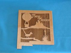 New Mexico Wooden Scroll Saw State Plaque by huebysscrollsawart, $15.00
