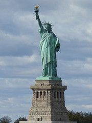 This is Lady Liberty, and she is adjacent to Battery Park, which is one of my favorite places in the world.