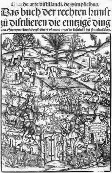 """Hieronymus Brunschwig – Wikipedia #destillieren """"Das Destillieren ist nichts anderes, als das Subtile vom Groben und das Grobe vom Subtilen zu scheiden, das Gebrechliche oder Zerstörbare unzerstörbar, das Materielle immateriell, das Leibliche geistig und das Unschöne schöner zu machen"""", Hieronymus Brunschwig , 1507"""