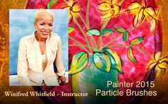http://winifredsGallery.com Winifred Whitfield creates a painting using the NEW Particle brushes in Painter 2015. This is her first use of these brushes.