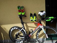 Die Triathlon-Ausrüstung von Emanuel beim Sprint Triathlon Braunau Sprint Triathlon, Bicycle, Bike, Bicycle Kick, Bicycles