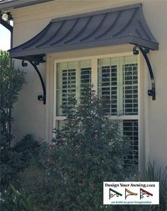 Design Your Awning is a leading provider of custom built awnings. If you want to see some of the custom awning projects that we've completed, see our gallery. Metal Awnings For Windows, House Awnings, House Siding, Front Door Awning, Porch Awning, Metal Door Awning, Garden Awning, Porch Canopy, Copper Awning