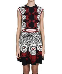 407c6ca812 Valentino Jacquard viscose knit dress