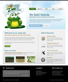 Frog HTML Template - 6447 - Animals & Pets - Website Templates - DreamTemplate