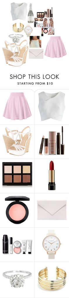 """""""A Summer Party"""" by mads-p ❤ liked on Polyvore featuring Chicwish, Jessica Simpson, Laura Mercier, Anastasia Beverly Hills, Lancôme, MAC Cosmetics, Verali, Bobbi Brown Cosmetics, Ella+Mila and Topshop"""