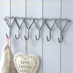 wall hooks. pretty hooks, i sw