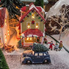 """Bumpus House - """"A Christmas Story"""" Department 56 Christmas Village, Christmas Tree Village, Silver Christmas Tree, Halloween Village, Christmas Night, Christmas Mantels, Christmas Villages, Victorian Christmas, A Christmas Story"""