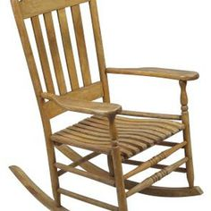 Simple Wooden Rocking Chair