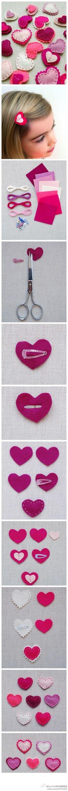 cute DIY non-woven small hairpin