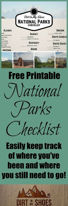 If you LOVE the national parks and hope to visit as many as you can, check out this free printable!  With 59 national parks in the United States, it is hard to keep track of them all -- but now you can.  Let's start exploring!