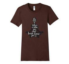 "Amazon.com: Women's ""The Time to Relax"", Lola the Yogini - Yoga T-Shirt: Clothing"