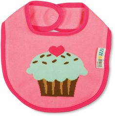 Pink Cupcake Bib by Izzy & Owie - Giggles Gear