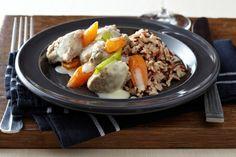 Escalope de veau façon blanquette Cassoulet, Facon, Beef, Chicken, Organize, Drink, School, Veal Stew, One Pot Meals