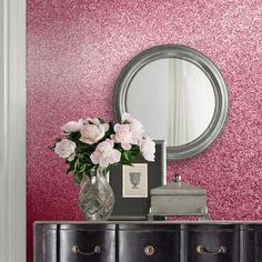 A pretty textured sparkle bling glitter wallpaper in soft pink from the Muriva Oriah Wallpaper Collection. Available at Go Wallpaper UK. Powder Room Wallpaper, Tree Wallpaper, Colorful Wallpaper, Cool Wallpaper, Rose Gold Glitter Wallpaper, Designer Wallpaper Brands, Stunning Wallpapers, Contemporary Wallpaper, Bling