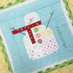 Machine stitching for snowman part 2 (bee in my bonnet)