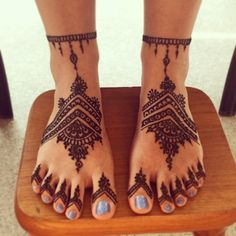 henna on feet hennabyang