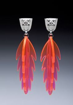 Josee Desjardins, Canadian artist and jewelry designer.Love the sterling and plexiglass. Canadian Jewelry
