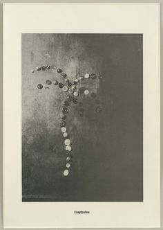 Sigmar Polke with Christof  Kohlhöfer. Button Palm Tree (Knopfpalme) from the Palm Tree Series (Palmenserie) from .....Higher Beings Ordain (.....Höhere Wesen befehlen) 1966, published 1968