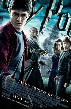 "HARRY POTTER AND THE HALF-BLOOD PRINCE (2009): As Harry Potter begins his sixth year at Hogwarts, he discovers an old book marked as ""the property of the Half-Blood Prince"" and begins to learn more about Lord Voldemort's dark past."