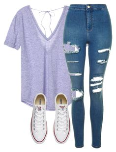 """""""Untitled #295"""" by haileyhoksbergen on Polyvore featuring Victoria's Secret, Topshop and Converse"""