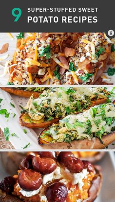 9 Super-Easy Stuffed Sweet Potato Recipes hmm never thought of stuffed sweet potatoes.