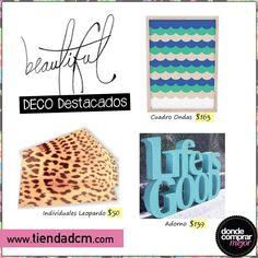 ¿Qué te parecen estos diseños para tu casa? ¡Conseguilos en la sección DECO de www.tiendadcm.com!
