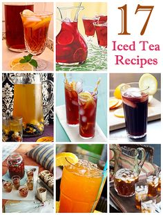 These ice tea recipes are perfect for when the weather warms up. For an adult twist, add your favour liquor to the mix and maybe an umbrella. And because there are so many different recipes, you can serve a different iced tea at every cocktail party you throw.