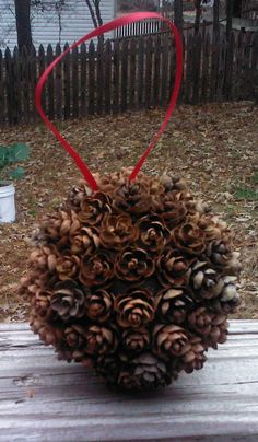 Your place to buy and sell all things handmade Christmas Pine Cones, Burlap Christmas, Christmas Ornaments, Pine Cone Crafts, Holiday Crafts, Pine Cone Decorations, Christmas Decorations, Coffee Table Bowl, Scented Pinecones