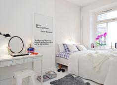 북유럽 인테리어, 스웨덴 화이트 침실 인테리어 :: A Lovely Life