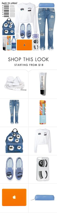 """Looks Like It's: Back 2 School"" by emcf3548 ❤ liked on Polyvore featuring Urbanears, Bobbi Brown Cosmetics, 3x1, Kipling, Chiara Ferragni, Smythson and BackToSchool"
