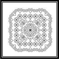 Blackwork Design Hearts & Flowers