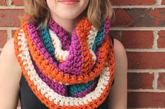 Everyday Life at Leisure: Crocheting A Cowl of Many Colors