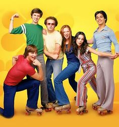 I loved the wardrobe on That 70s Show.  I'm a huge fan of funky jumpsuits and Jackie and Lorrie usually delivered on style.