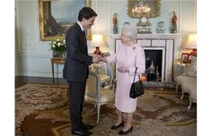 Justin Trudeau meets the Queen (for the second time) at Buckingham Palace