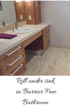 lives through universal and accessible design education – the Universal Design Living Laboratory Roll under sink for an handicap bathroomRoll under sink for an handicap bathroom Ada Bathroom, Handicap Bathroom, Wall Mounted Bathroom Sinks, Chic Bathrooms, Bathroom Ideas, Disabled Bathroom, Bathroom Remodeling, Master Bathroom, Shower Ideas