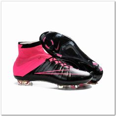 Nike Mercurial Superfly IV FG Leather Cleats Black Hyper Pink  107.98 Pink  Soccer Cleats 77a570b98b8d4