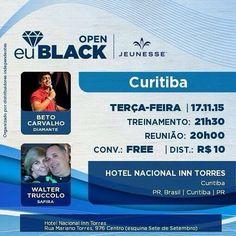 Curitiba está 3feira conto com vocês na nossa reunião semanal. Estou De volta E conto estar presente. Venham junto conhecer A Jeunesse e os seus produtos. Entre em contato comigo : Email: rejuvenescimentobrasil@gmail.com WhatsApp: (00351) - 962 323 703 Skype: spitfire_pt2006 http://ift.tt/1NUntNb