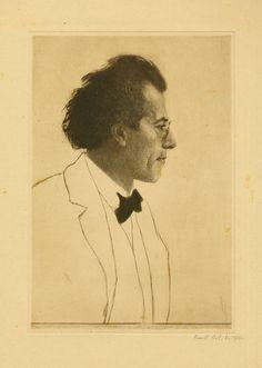 Gustav Mahler by Emil Orlik