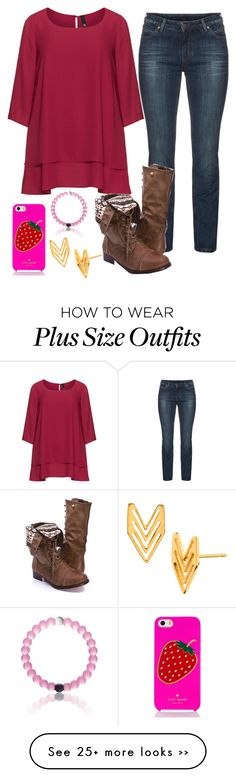 """Fall is here!!!!"" by kaitlynbug1226 on Polyvore featuring Manon Baptiste, My Star Denim, Kate Spade and Gorjana"