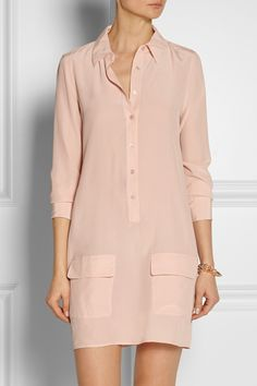 Equipment|Lucida washed-silk shirt dress