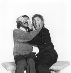"""Richard Pryor as Wallace """"Wally"""" Karew and Gene Wilder as Dave Lyons in See No Evil, Hear No Evil a 1989 American comedy film directed by Arthur Hiller and produced by Marvin Worth for TriStar Pictures. Comedy Tonight, Movie Stars, Movie Tv, Richard Pryor, See No Evil, Cinema, Stand Up Comedians, Funny People, Funny Guys"""