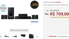Home Theater Samsung HT-F4505/ZD 5.1 Canais Blu-ray 3D Rádio FM Entrada USB Cabo HDMI 500 W << R$ 62392 >> Home Theater, Home Theatre Samsung, Cabo Hdmi, Usb, Entryway, Home Theaters, Home Theatre