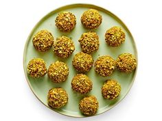 Pistachio Energy Balls Recipe | Food Network Kitchen | Food Network Food Network Recipes, Dog Food Recipes, Food Processor Recipes, Snack Recipes, Dessert Recipes, Protein Packed Snacks, Healthy Snacks, Healthy Eating, Healthy Recipes