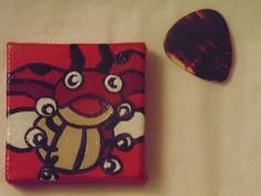 Handmade Ledyba Pokémon magnet available at yumjellydonuts.etsy.com